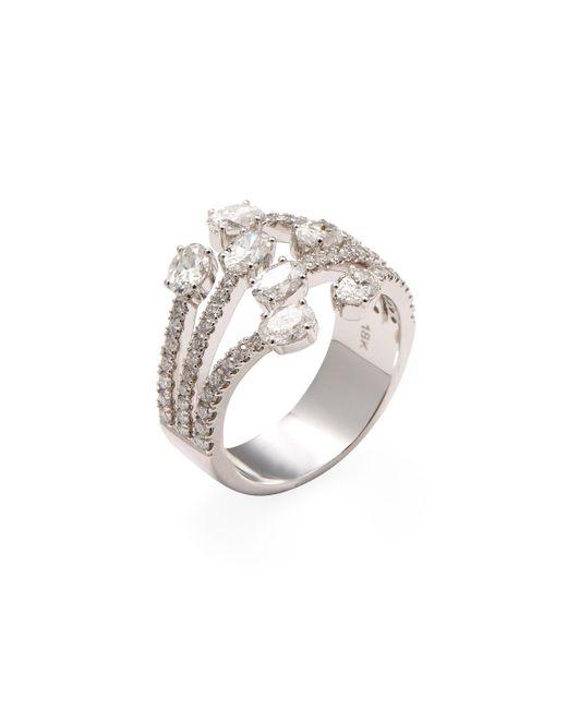 Nephora - Metallic 18k White Gold & 1.76 Total Ct. Diamond Fashion Ring - Lyst