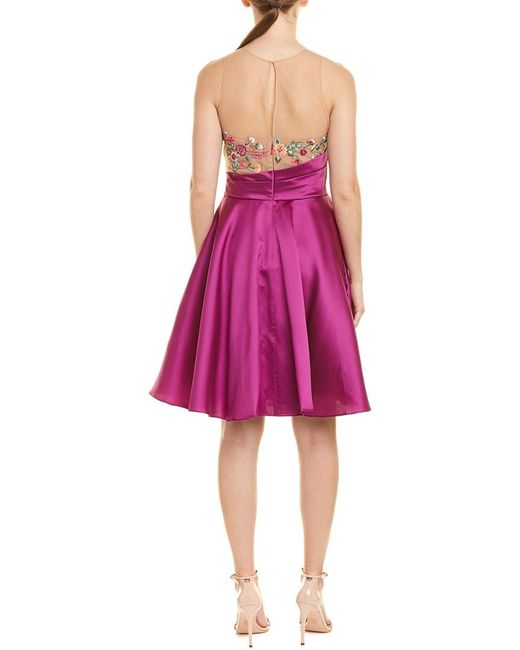 c6f1b025 ... Marchesa notte - Pink Silk-blend A-line Dress - Lyst