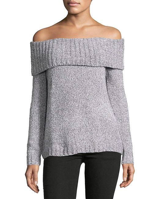 BB Dakota - Gray Bauer Off-the-shoulder Sweater - Lyst