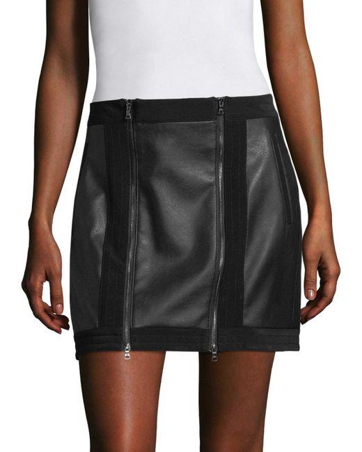 BCBGMAXAZRIA - Black Zip Front Mini Skirt - Lyst