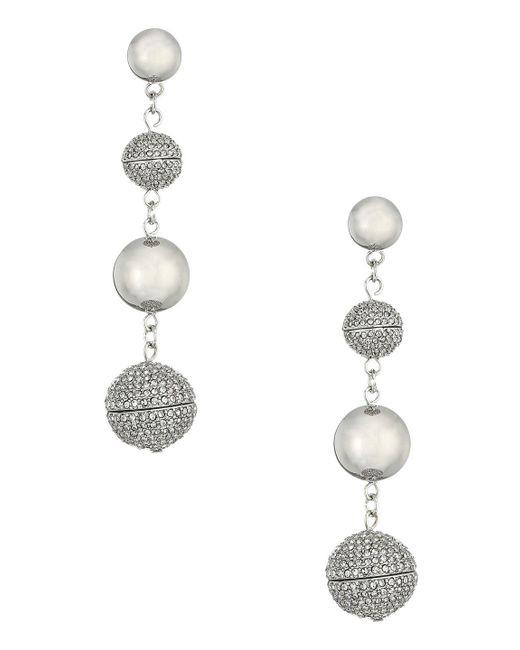 Rebecca Minkoff - Metallic Statement Sphere Drop Pave Earrings - Lyst