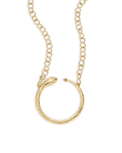 Temple St. Clair - Metallic Tree Of Life Diamond & 18k Yellow Gold Ourobouros Serpent Necklace - Lyst