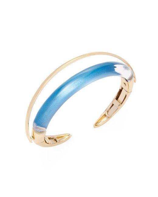 Alexis Bittar - Blue Lucite Orbiting Cuff Bracelet - Lyst