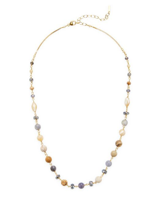 Chan Luu - Metallic 18k Gold Plated Sterling Silver Semi Precious Stones Station Necklace - Lyst
