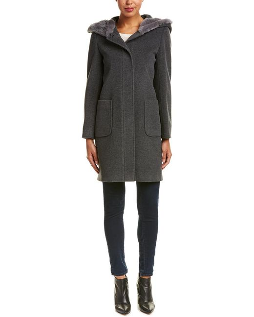 Cinzia Rocca - Gray Icons Wool & Cashmere-blend Coat - Lyst