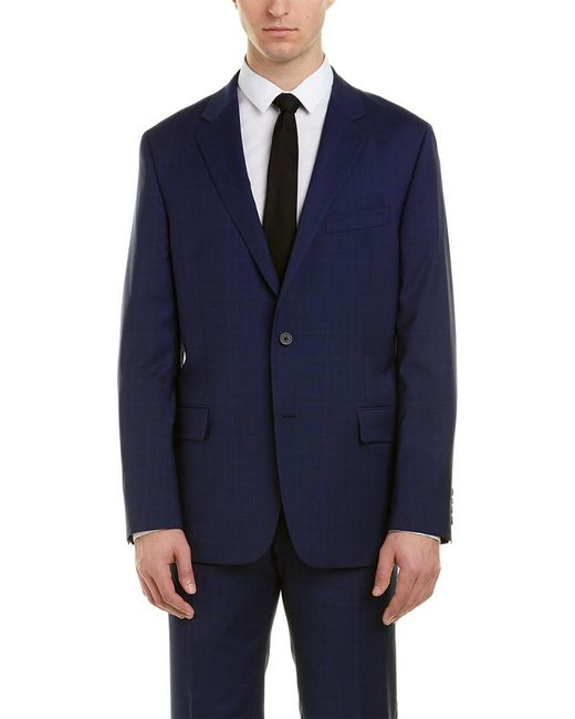 Hickey Freeman Blue Milburn Ii Wool Suit for men