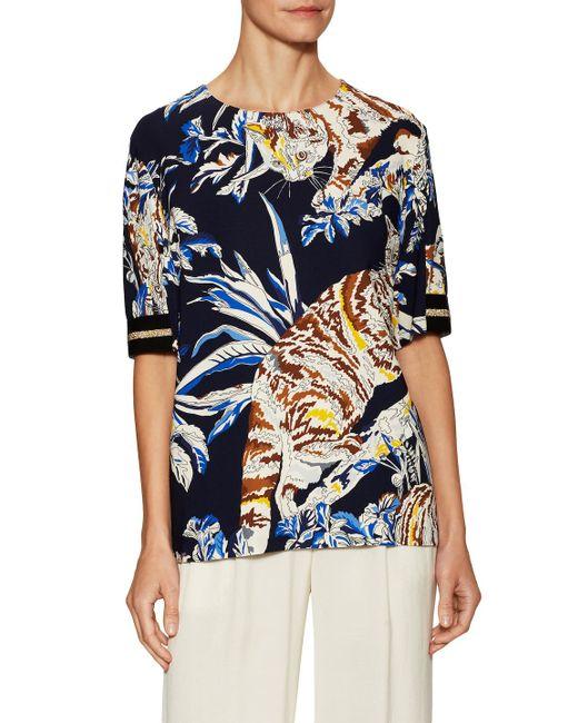 Stella McCartney - Blue Wild Printed Shirt - Lyst