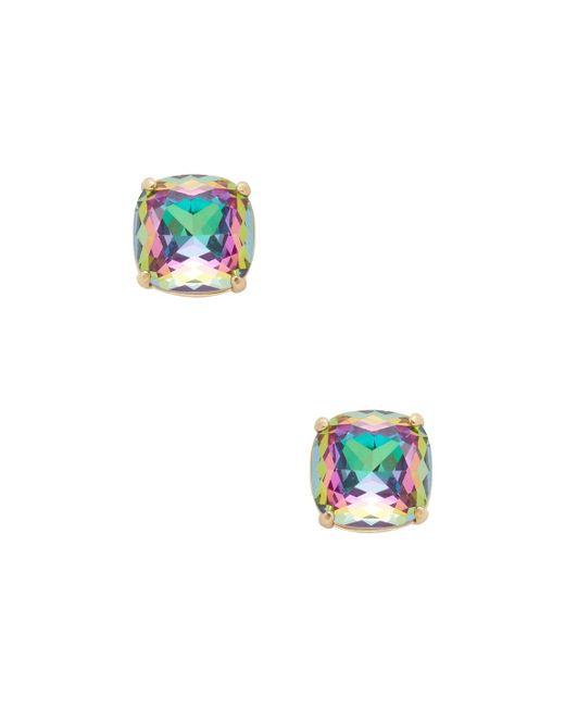 Kate Spade - Blue Square Stud Earrings - Lyst
