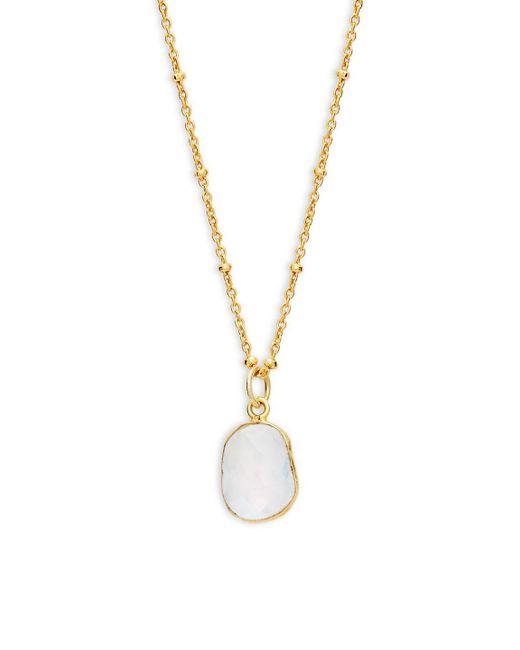 Alanna Bess - Metallic Rainbow Moonstone Pendant Necklace - Lyst