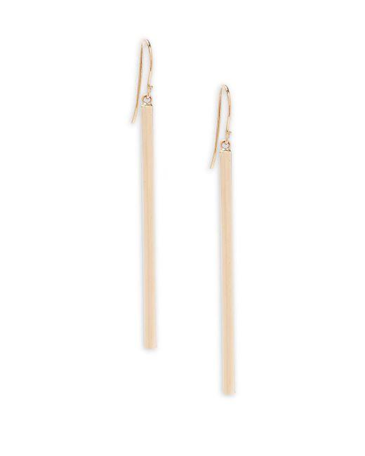 Saks Fifth Avenue - Metallic 14k Gold Hook Drop Earrings - Lyst