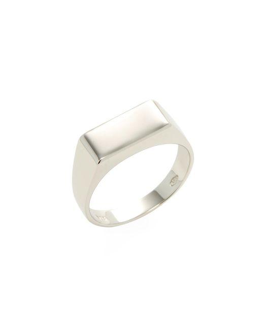 Mateo Bijoux - Metallic Rectangular Signet Ring - Lyst