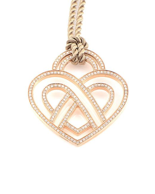 Poiray - Metallic 18k Rose Gold 1.21 Ct. Tw. Diamond Toggle Necklace - Lyst