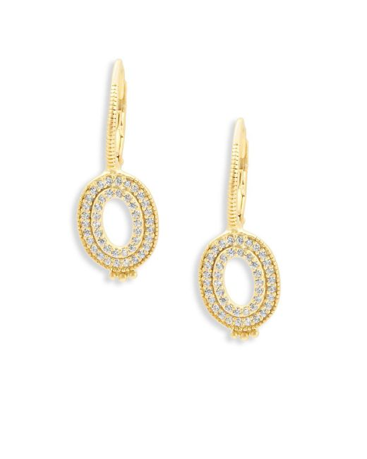 Freida Rothman - Metallic Classic Cubic Zirconia And Sterling Silver Open Oval Earrings - Lyst