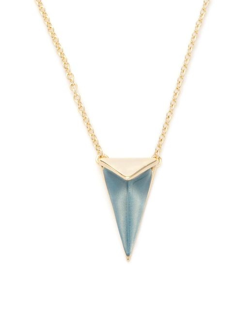 Alexis Bittar - Blue Lucite Faceted Pyramid Pendant Necklace - Lyst