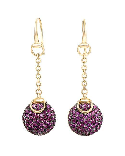 Gucci - Multicolor 18k Ruby Earrings - Lyst