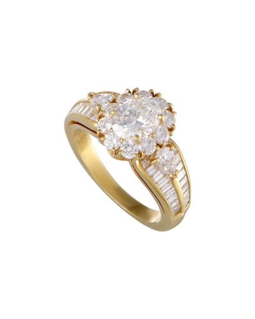 Heritage Van Cleef & Arpels - Metallic Van Cleef & Arpels 18k 3.03 Ct. Tw. Diamond Ring - Lyst