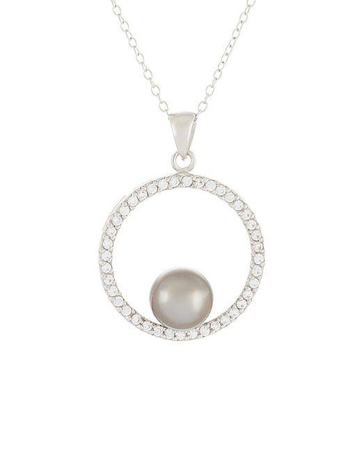 Splendid - Metallic Silver 8-8.5mm Tahitian Pearl Necklace - Lyst