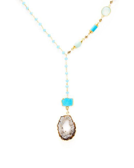 Alanna Bess Jewelry - Metallic Slab Pendant Necklace - Lyst