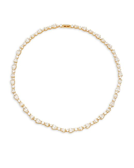 Adriana Orsini | Metallic Cubic Zirconia Geometric Collar Necklace | Lyst