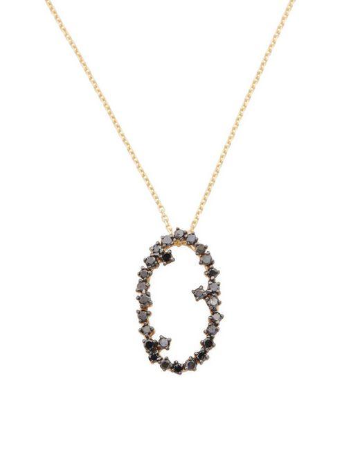 Suzanne Kalan - Metallic 0.33 Tcw Black Diamond 14k Yellow Gold Starburst Floating Pendant Necklace - Lyst
