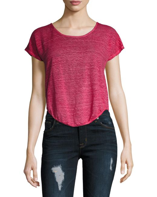 Young Fabulous & Broke - Pink Wing Linen Tee - Lyst