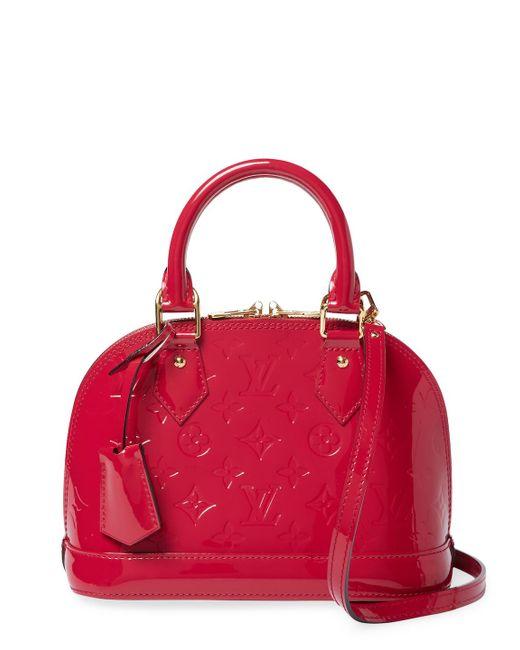 Louis Vuitton - Vintage Pink Vernis Alma Bb Bag - Lyst