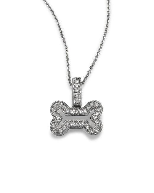 KC Designs - Metallic 14k Diamond Bone-shaped Necklace - Lyst