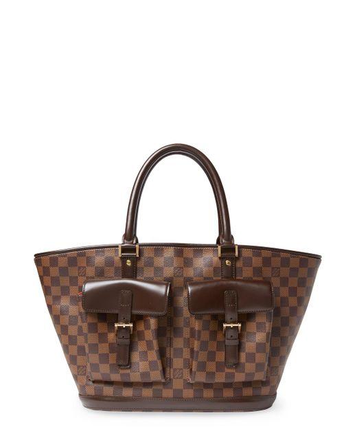 Louis Vuitton - Brown Vintage Damier Ebene Manosque Gm Tote - Lyst