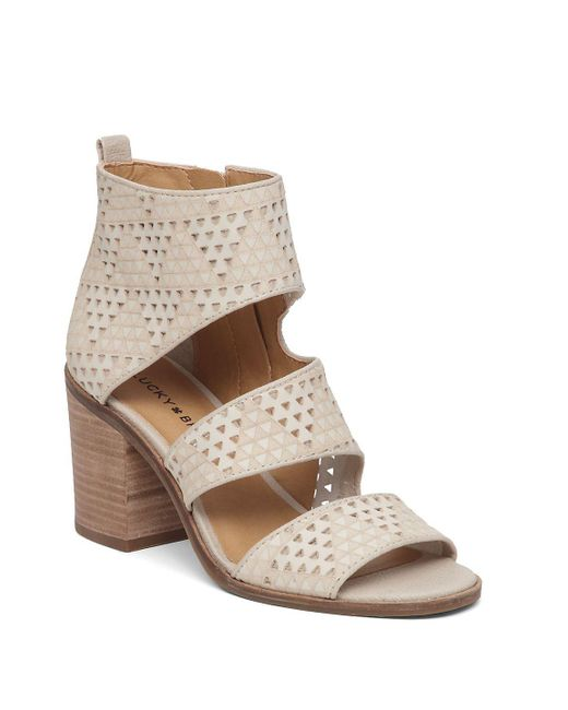 Lucky Brand | Natural Abott Leather Strap Sandals | Lyst