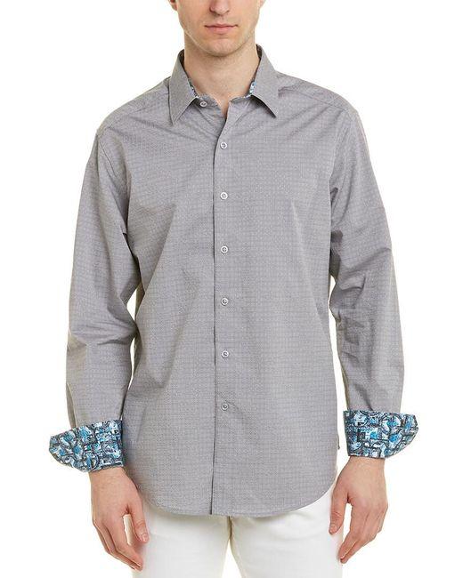 Robert Graham Gray Dorsal Woven Shirt for men