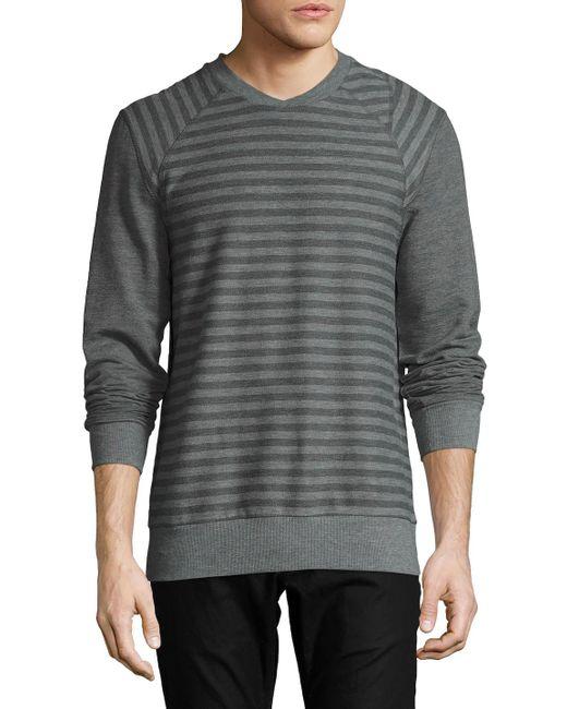 2xist - Gray Terry Crewneck Sweatshirt for Men - Lyst