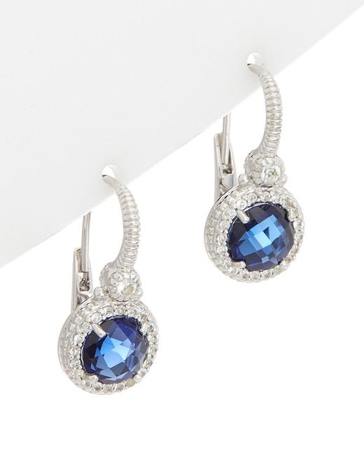 Judith Ripka - Multicolor Silver 4.92 Ct. Tw. White Topaz Drop Earrings - Lyst