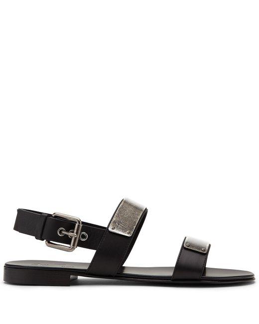 Giuseppe Zanotti | Black 'zak' Sandals | Lyst