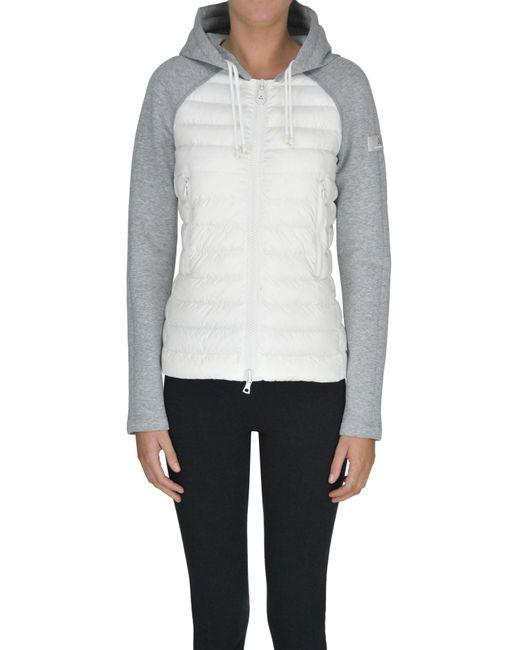 Peuterey - White Fleece Inserts Down Jacket - Lyst