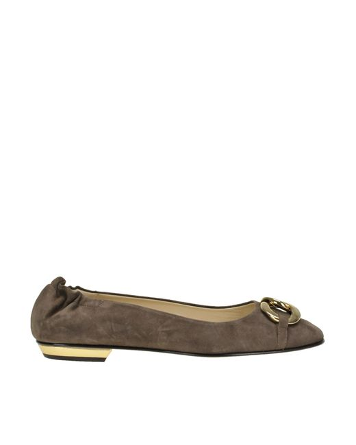 Gianna Meliani - Brown Suede Ballerinas - Lyst