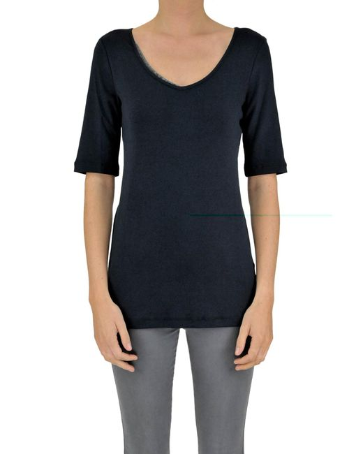 Fabiana Filippi - Blue Cotton T-shirt - Lyst