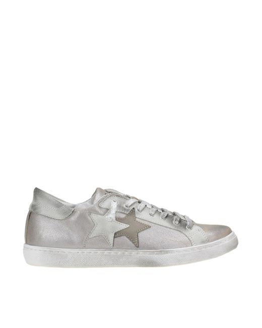 2 Star - Gray Crackle Suede Sneakers - Lyst