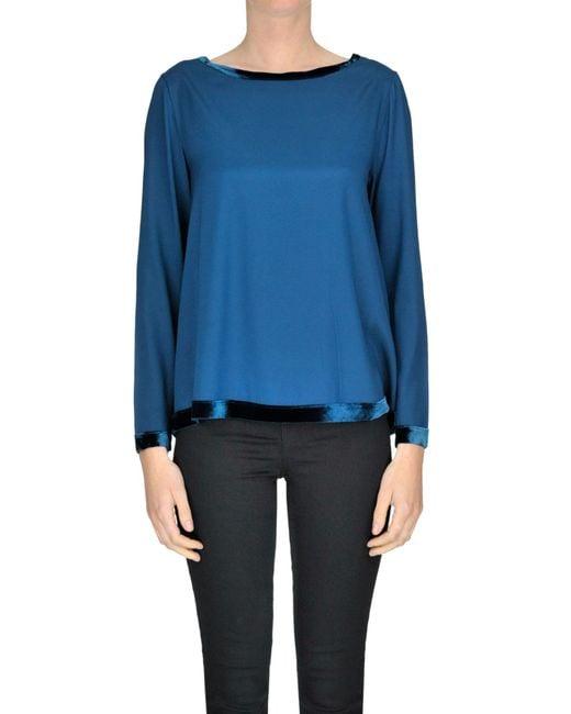 Shirt C-zero - Blue Silk Blouse - Lyst