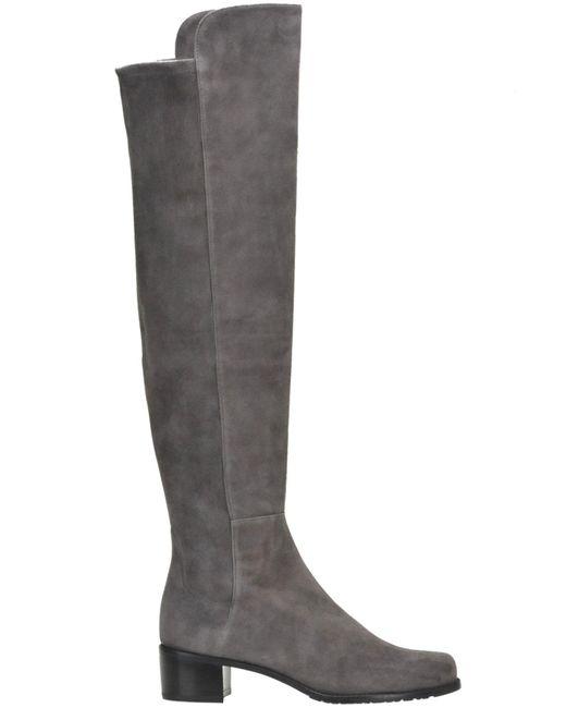 Stuart Weitzman - Gray Allserve Suede Over The Knee Boots - Lyst