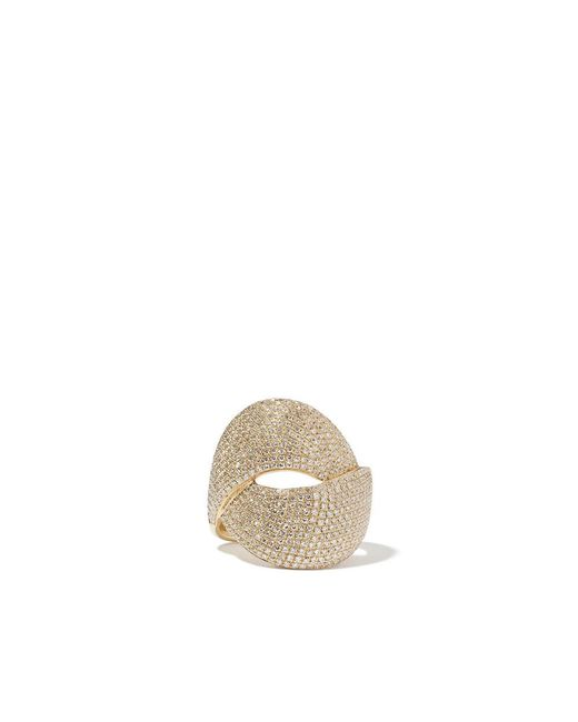 Anne Sisteron - Metallic Diamond Luxe Twist Yellow-gold Ring - Lyst