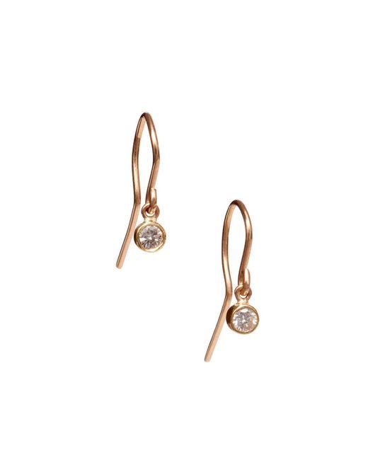 Jennifer Meyer Metallic Large Bezel Drop Earrings