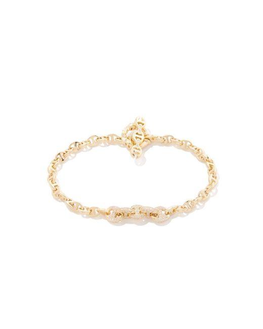 Hoorsenbuhs - Metallic Five Link Pavé Bracelet - Lyst