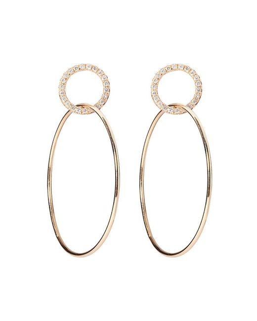 Sophie Ratner   Metallic Single Circle Hinge Ring Pave Earrings   Lyst