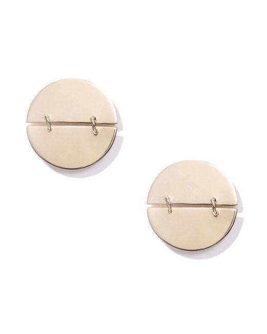 Loren Stewart - Metallic Disk Hinge Stud Earrings - Lyst