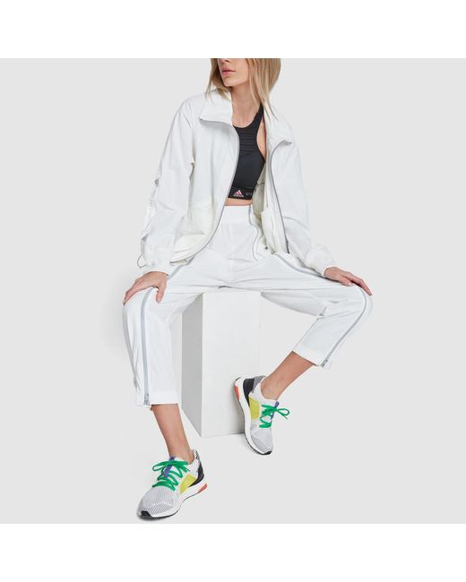 ... Adidas By Stella McCartney - White Ultraboost S. Mesh Color-block  Sneakers - Lyst a4f09e303