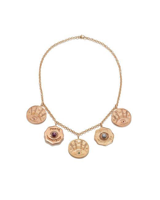 Marlo Laz - Metallic Talisman 5 Coin Necklace - Lyst