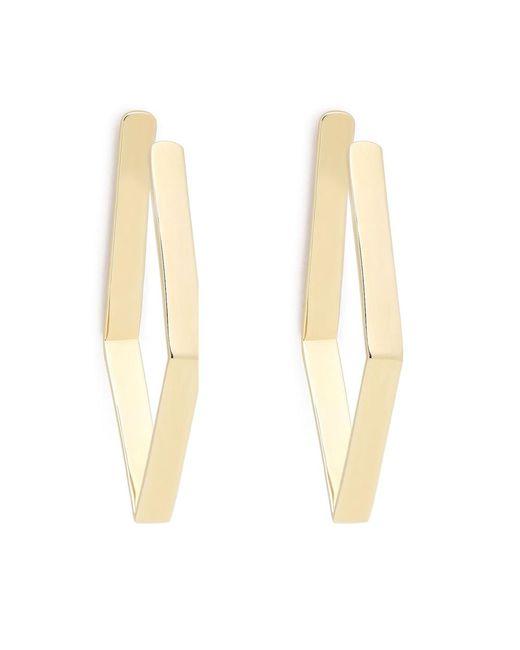 Jennifer Fisher - Metallic Gold-plated Small Diamond Shaped Hoops Earring - Lyst