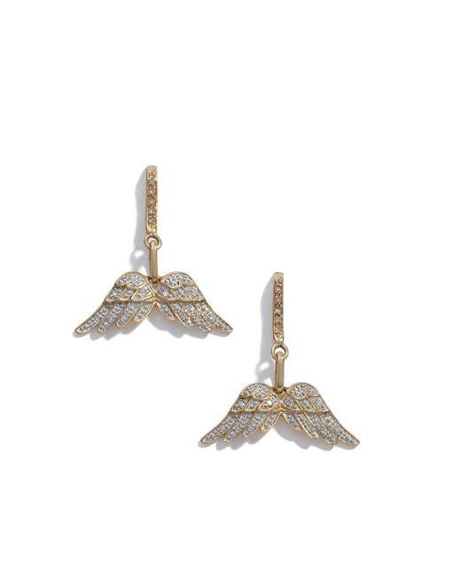 Sheryl Lowe - Metallic Pavé Diamond Wing Earrings - Lyst