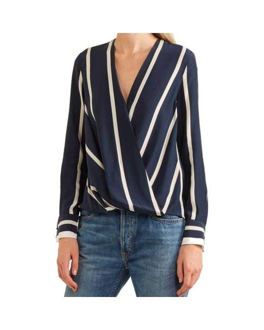 Rag & Bone | Blue Victor Navy And White Stripe Longsleeve Top | Lyst