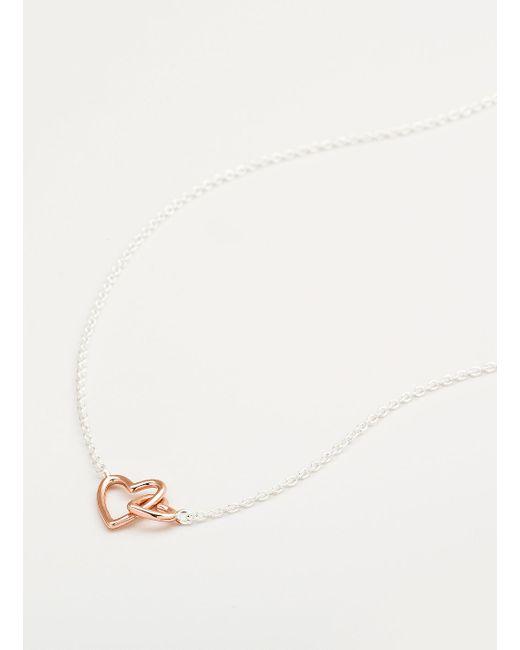 Gorjana & Griffin | Metallic Mini + Me Interlocking Hearts Adult Necklace | Lyst